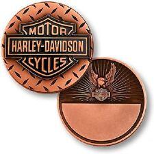 Harley-Davidson Diamond Plate / Eagle - Copper Challenge Coin