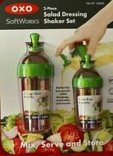 New OXO SOFTWORKS 2 pcs salad dressing shaker set mix, serve, store