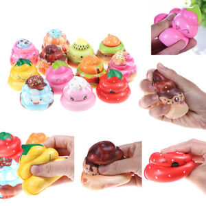 1Pc Cute poo slow rising squeeze toy scented stress reliever toy charms gift(