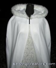 Winter Bridal Cape Formal Cloak  Fur & Fleece Custom Requests Available