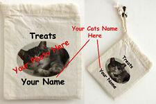 Borsa IN COTONE Gatto Regalo personalizzato con il tuo gatto o gattini fotografia e nome
