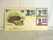 1988 Grenada Official 1st Day cover envelope Royals Brett Quisenberry Saberhagen