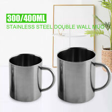 300/400ml Double Wall Stainless Steel Tea Beer Coffee Mug Camping Cup Durable.