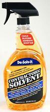 New De-Solv-it Pro Strength Contractors Solvent Commercial Size 32 fl oz Spray