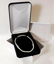 Elegant Black Velvet Jewelry Presentation Gift Box for Beads Pearls Necklaces ++