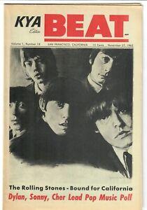 KYA BEAT 1965 Teen Magazine 1-18 Rolling Stones Byrds Dusty Knickerbockers