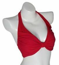NWT by GOTTEX 12BE-D47R Azalea Ruched Halter Bikini Top Women's Size 8