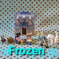 DISNEY ANIMATORS LITTLES COLLECTION FROZEN DOLL HOUSE ARANDELLE MINI PLAYSET