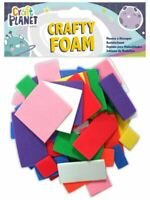 Crafty Foam Square Rectangle Shapes - Assorted Colours - Card Making