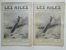 LES AILES 1939 928 CAUDRON SCHIPHOL KLM LITTORAL AVIATION CANNES GUERRE ESPAGNE