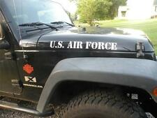 US AIR FORCE 2 pc JEEP WRANGLER HOOD DECAL SET VINYL CAR WINDOW DECAL STICKER