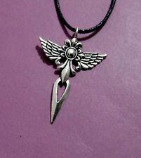 Cross Angel Wing Pendant Adjustable Necklace