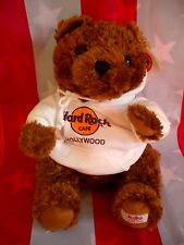 HRC Hard Rock Cafe Hollywood Sweater Hoodie Bear 2008 LE Made by Herrington