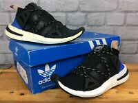 ADIDAS LADIES UK 5 EU 38 AKRYN RUNNER BLACK BLUE TRAINERS RRP £110    EP