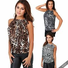 Waist Length Blouse Party Halterneck Tops & Shirts for Women