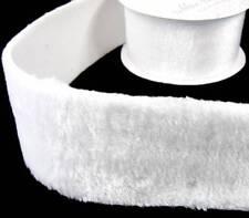 "1 Yd Soft Faux Fur White Furry Trim Ribbon 3""W (can cut for narrow widths)"