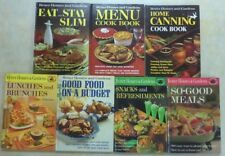 VINTAGE Lot- 7 BETTER HOMES & GARDENS COOKBOOKS Snacks Lunches Home Canning Slim