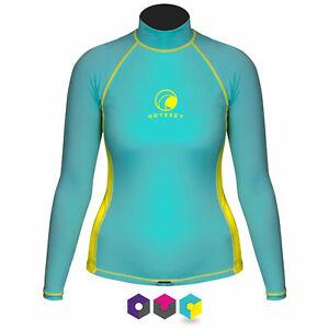 Odyssey Ladies Long Sleeve Rash Vest Womens Surf T-Shirt UV50+ Protection Guard