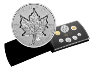 🇨🇦 Canada $20 Dollars Super Incuse Silver Maple Leaf Coin gift set, 2021