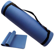 NBR YOGA EXERCISE MAT 15mm THICK NON SLIP TRAINING WITH CARRY STRAPS WORKOUT