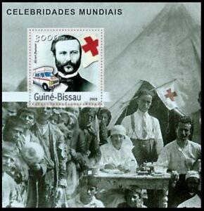 Guinea Bissau 2003 MNH MS, Henri Dunant, Red cross, Ambulance, medical Camp