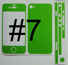 *Choice of 13 Colours* iPhone 4S Full Body * Matte * Vinyl Decal Skin sticker