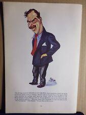 gravure satyrique personnage course automobile 1950 :ARCHIE SCOTT-BROWN