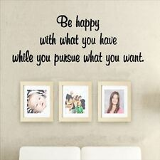 Huhome PVC Wall Stickers Wallpaper English Be Happy living room bedroom self-adh