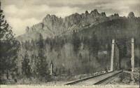 Southern Pacific RR Bridge From Castella CA c1910 Postcard