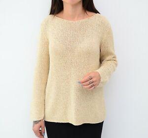 Women's Rivamonti by Brunello Cucinelli Beige Knit Pullover Sweater Size ~M