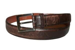 Authentic Salvatore Ferragamo Belt Silver Buckle 80/32 Made in Italy #8234