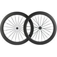 700C Carbon Wheels 38/50/60/88mm Road Bike Cycle Wheelset Basalt Braking surface