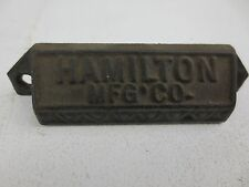 Antique Original Hamilton Mfg Letterpress Printers Drawer Iron Pulls Handles