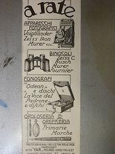 ADVERTISING PUBBLICITA' VAR APPARECCHI FOTOGRAFICI  BINOCOLI FONOGRAFI  -- 1932