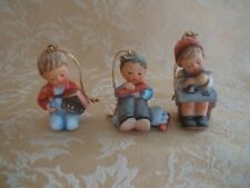 Three Hummel Goebel Christmas Collectable Boy/Girl Ornaments Ca 1997