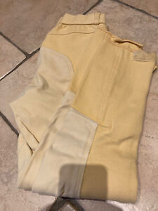 Ladies Yellow Tally Ho Show Breeches 28""