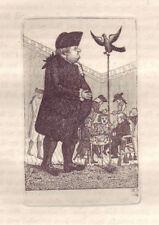 JOHN KAY Original Antique Etching. Dr. John Brown, 1786