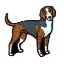 American Fox Hound Iron On Embroidered Patch