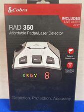 Cobra Rad 350 Radar/Laser Detector Oled Display, Black New