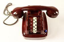 Bakelit Spielzeug Telefon Trommelwähler Mechanisch Blech Zugnummernschalter