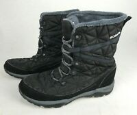 COLUMBIA Women's Black Lace Up WATERPROOF 200 Grams ONMI-HEAT Winter Boots Size7