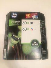 HP 60XL Black and Tri-Color Ink Cartridges, 2 Pack Plus Photo Paper Exp 9/15