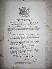 T776-PERIODO NAPOLEONICO-PERMESSO DI IMPORTAZIONE ED ESPORTAZIONE