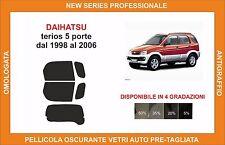 pellicola oscurante vetri dahiatsu terios 5 p dal 1998 al 2006 kit posteriore