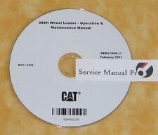 SEBU7808 CAT Caterpillar 988H Wheel Loader Operation Maintenance Manual CD