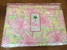 Lilly Pulitzer Curtain Pink Lily Floral Window Valance Quilted Rare Find Vintage