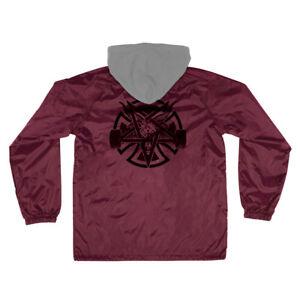 Thrasher x Independent - Pentagram Cross Windbreaker Jacket - Mens - Maroon