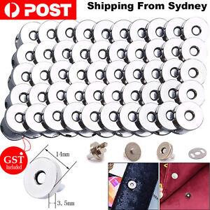 20pcs Bag Purse Clasps Magnetic Buttons Snaps Fasteners Handbag Craft Buttons AU