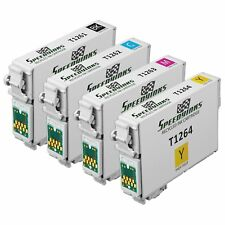 Remanufactured Ink For Epson T126 126 Set of 4 Ink Black Cyan Magenta Yellow