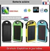 Batterie externe solaire 5000 Mah étanche power bank